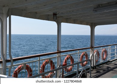 view on the ferry ride deck
