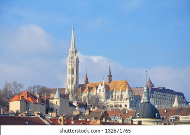 View on Fishermen's bastion in Budapest, Hungary