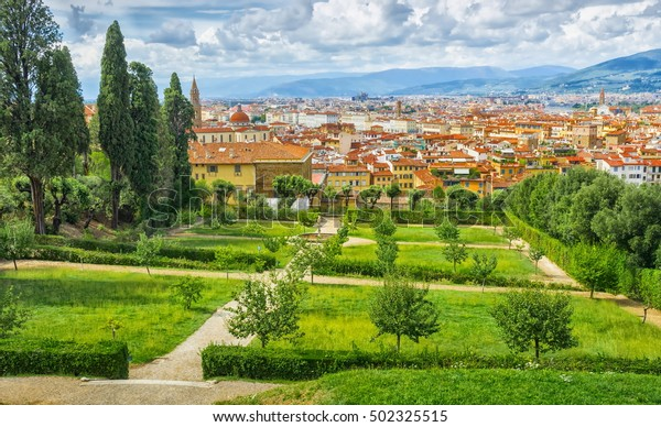 View On Florence Italy Bardini Gardens Stock Photo Edit Now