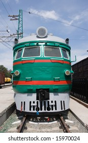 view on front of locomotive