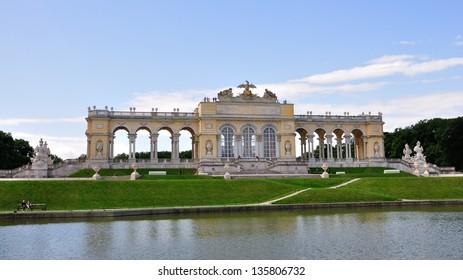 View on Gloriette structure of Schonbrunn Palace, Vienna, Austria