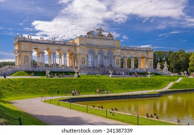 View on Gloriette structure in Schonbrunn Palace, Vienna, Austria