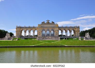 View on Gloriette structure in Schonbrunn Palace in Vienna, Austria