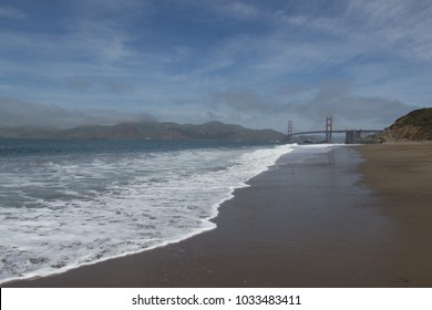 View on the golden gate bridge from the marshalls beach
