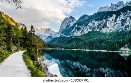 View on Gosausee (Lake Gosau See). Austria