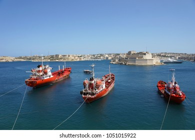 View on the Great Harbour from Valletta (Malta)