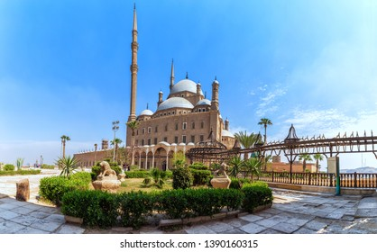 View on the Great Mosque of Muhammad Ali Pasha in Cairo Citadel, Egypt