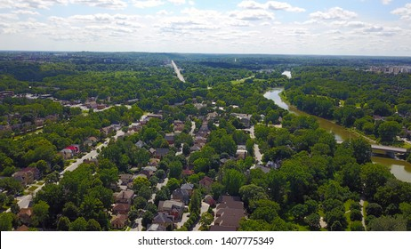 View on the green city of London Ontario