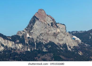 View on Gr.Mythen swiss mountain