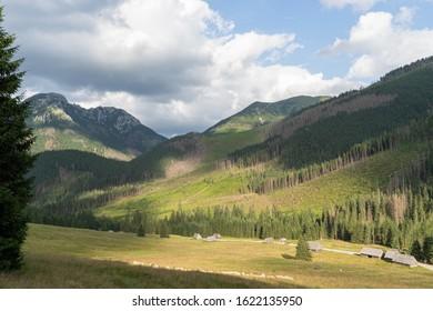 View on Hala Gasienicowa Valley in polish Tatra Mountains, Poland