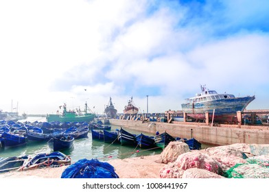 View on Harbor of Essauira in Morocco