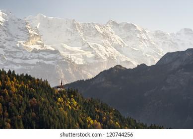 A view on Harder Kulm, above Interlaken.