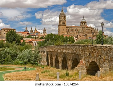 View on the historical city of Salamanca, Spain