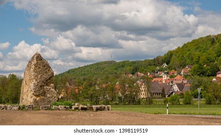 """View on """"Hohenstadt"""" in the Franconian Switzerland"""