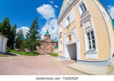 View on the Holy Spirit Monastery in Borovichi, Russia. Monastery was founded in 1327