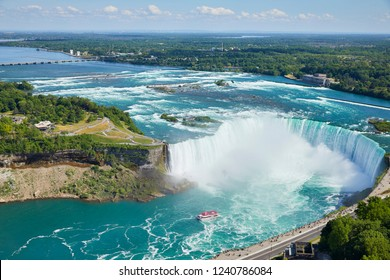 View on the Horseshoe Falls, the Canadian side of the Niagara Falls, Canada
