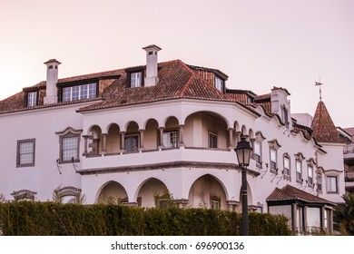View on how old houses of the village of Cascais, Portugal