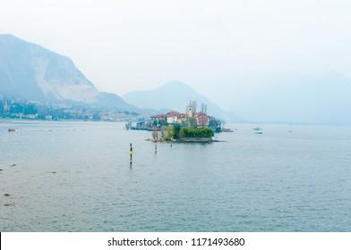 View on Isola dei Pescatori from Isola Bella, Lago Maggiore, Italy