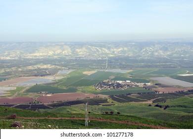 View on Jordan Valley in Israel