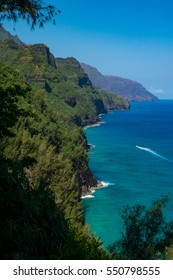 View on the Kalalau Trail in Kauai, Hawaii