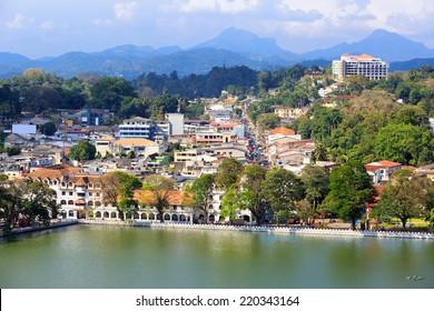 View on Kandy City, Sri Lanka