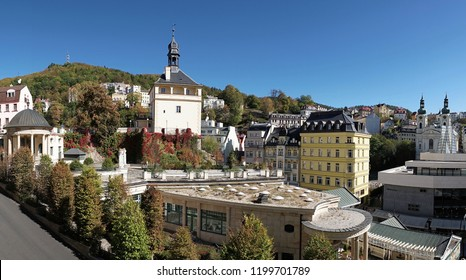View on Karlovy Vary in the Czech Republic from a hotel window