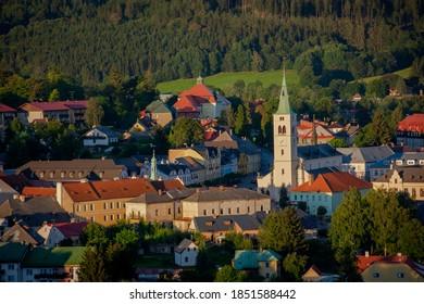 View on Kasperske Hory, Czech republic - Shutterstock ID 1851588442