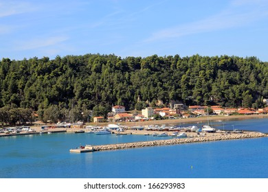 View on Katakolon and port in Greece