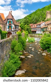 view on Kaysersberg village, Alsace, France