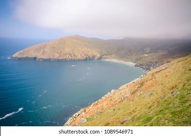 View on Keem Bay beach - Achill Island in Ireland