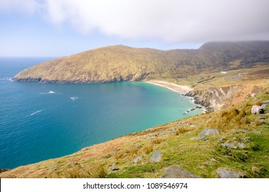 View on Keem Bay beach - Achill Island in Ireland