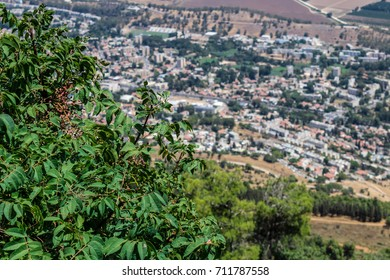 View on Kiryat Shmona, Israel, from above