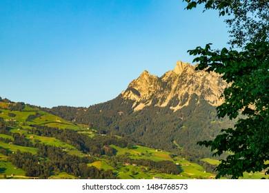 View on the Kleiner Mythen - Swiss Schwyz Alps in Switzerland