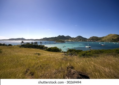 A view on the lagoon near St Martin (French West Indies)