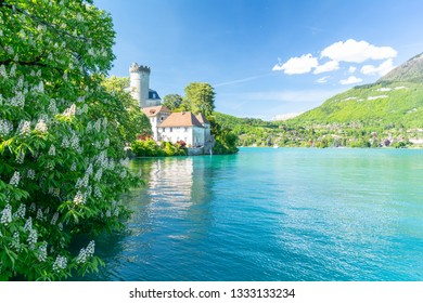 view on Lake Annecy during spring, France
