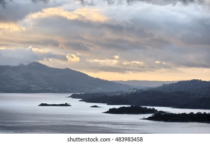 View on Lake Arenal from the slopes of the Arenal Volcano, Costa Rica
