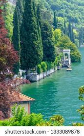 view on Lake Como in Varenna, Italy