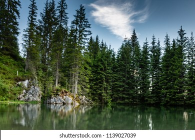 a view on a lake found in the Austrian Mountains near the Bischofsmütze