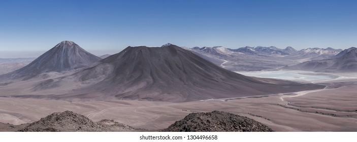 View on Licancabur volcano in the chilean altiplano