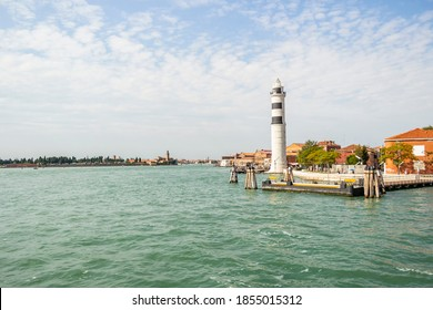 View on the lighthouse of Murano, Venice - Italy