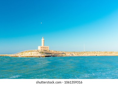 View on the lighthouse of Vieste in Apulia, south Italy