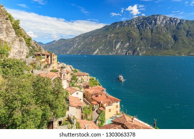 View on Limone sul Garda at the Lago di Garda