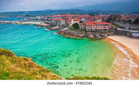 View on Llanes, Spain