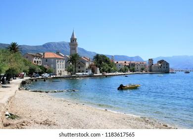 view on the lovely Kastella coast in Croatia