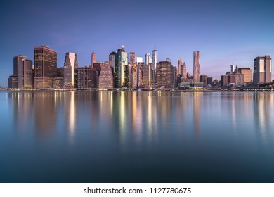 View on Lower east side Manhattan at sunrise