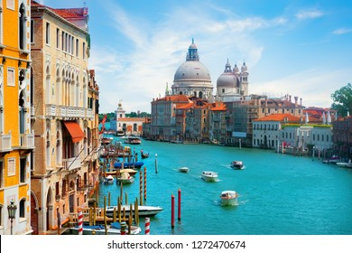 View on majestic venetian landmarks in summer day