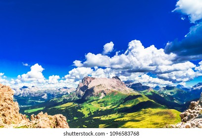 View on marmolada mountain in the Alps of South tyrol
