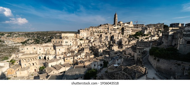 View on Matera city in Italy