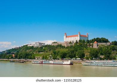 View on medieval castle on a hill in Bratislava, Slovakia