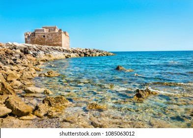View on medieval castle in Paphos, Cyprus